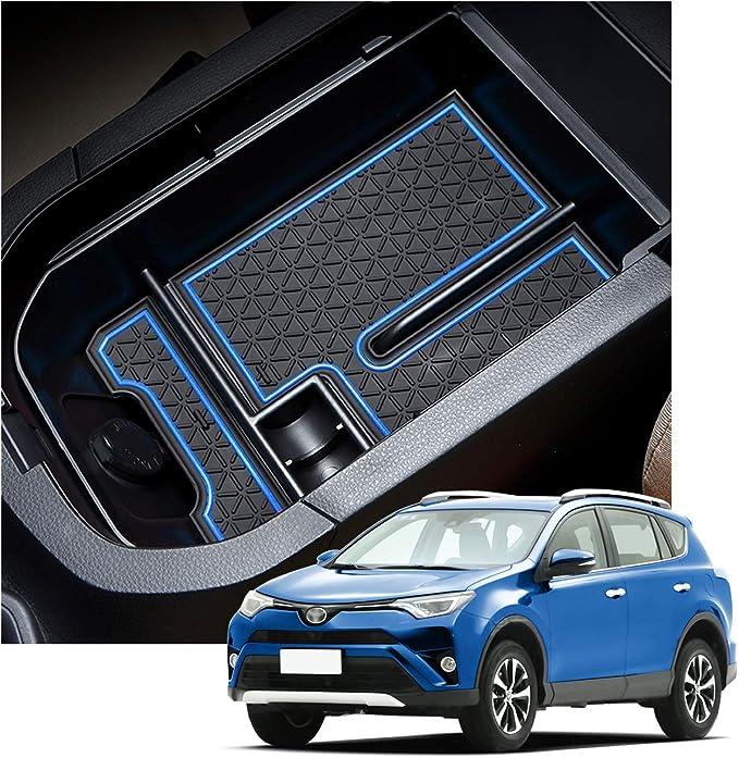 RAV4 Interior Accessories,Armrest Storage Compatible for Toyota Rav4 Center Console Organizer,Center Console Tray Compatible with Toyota Rav4 2019 2020,Keep The Center Console Organized Blue