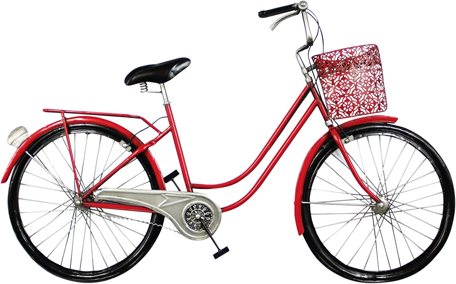 Vidal Regalos Adorno Decorativo Pared Bicicleta Roja 98 cm: Amazon ...