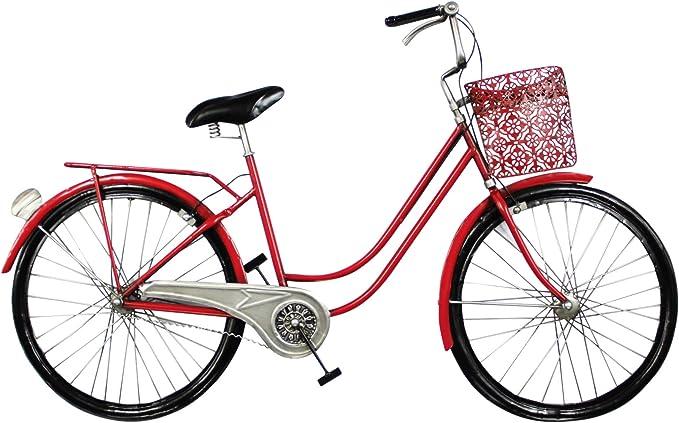 Vidal Regalos Adorno Decorativo Pared Bicicleta Roja 98 cm: Amazon.es: Hogar