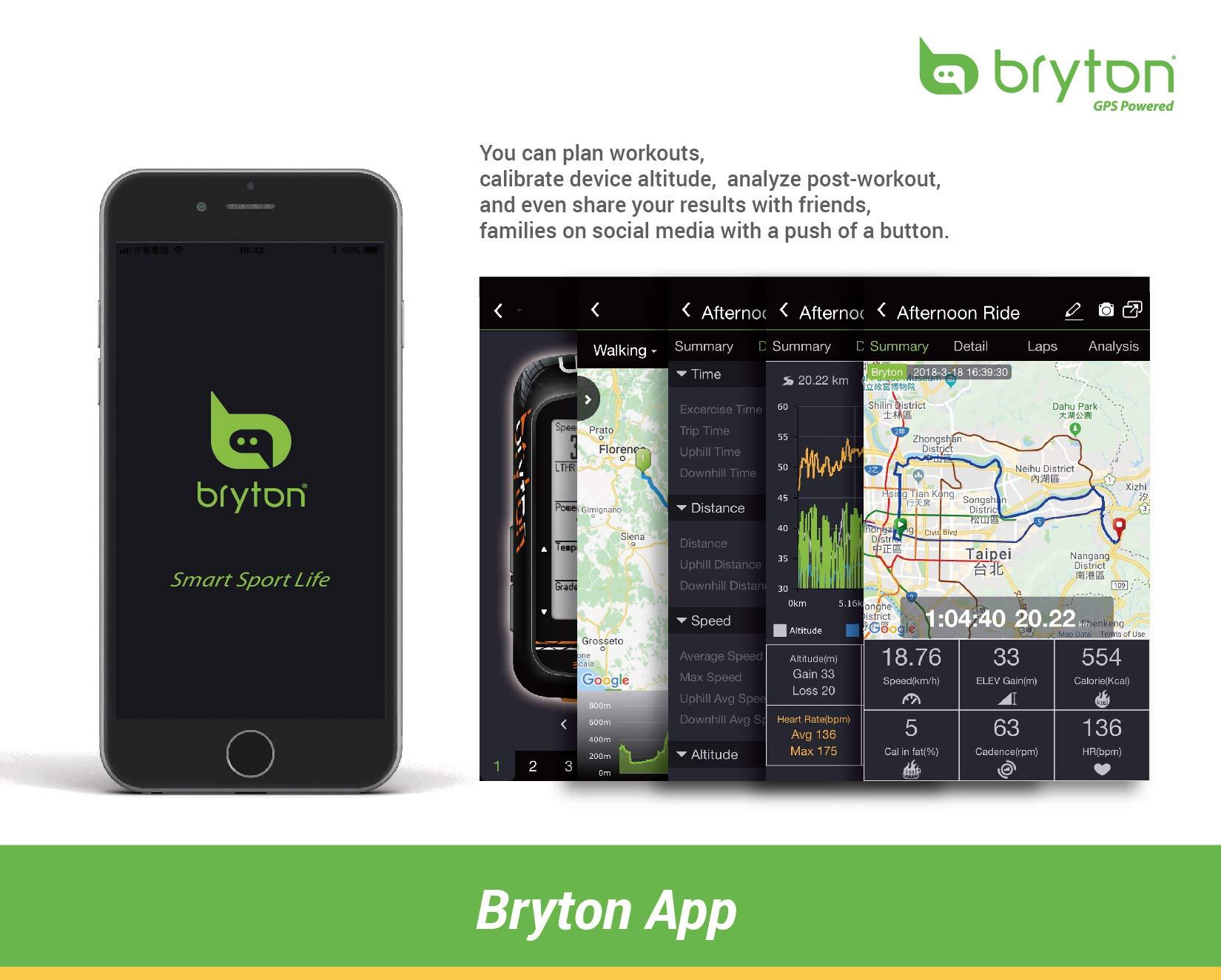 Bryton Rider 450 GPS Bike Computer (2.3'' Display, 450E - Base Model) by Bryton