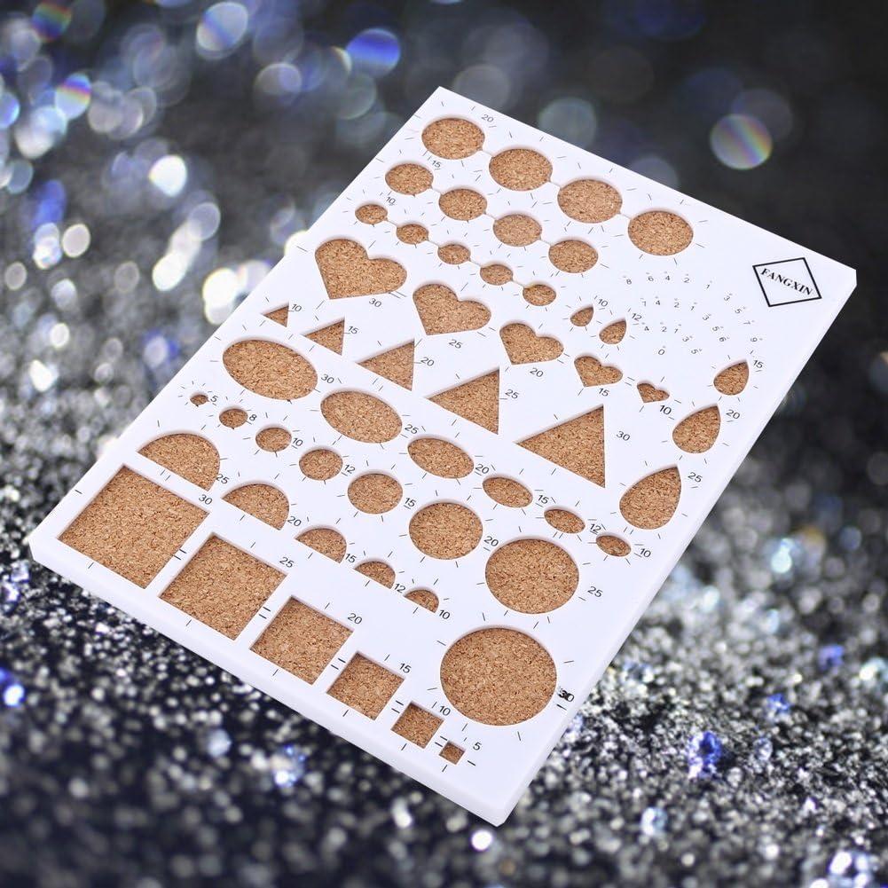 Pins Craft Kit di Carta Fai da Te Quilling Consiglio Template pinzette scanalato Pen Quilling corredo di Attrezzi Colore : Rosa