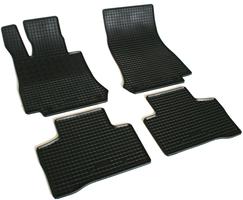 AD Tuning GmbH /& Co KG Rubber Foot Mats Set of 4/Rubber Floor Mats Rubber Mats