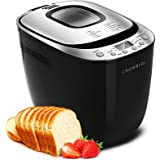 CROWNFUL 12-in-1 Automatic Bread Machine, 2 LB Programmable Bread Maker with Nonstick Pan and Gluten-Free Setting, 1 Hour Kee