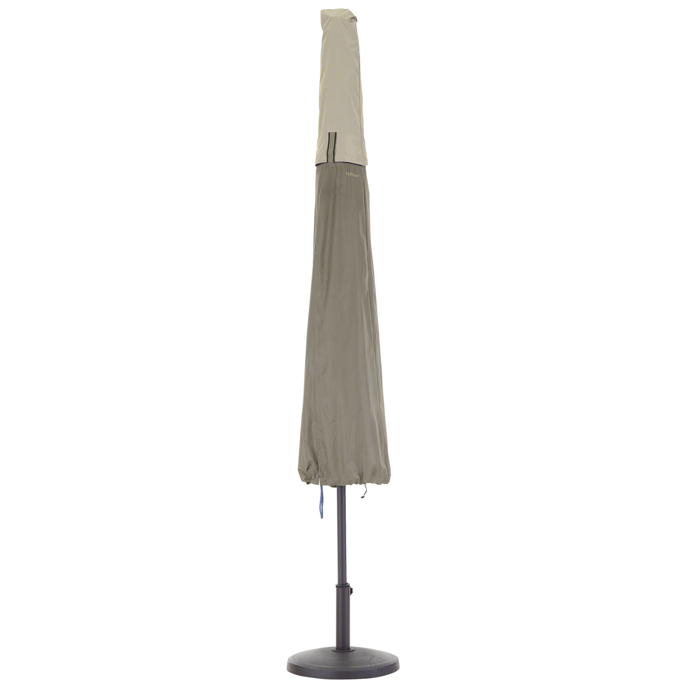 Classic Accessories 55-272-011001-00 Belltown Outdoor Patio Umbrella Cover, Grey