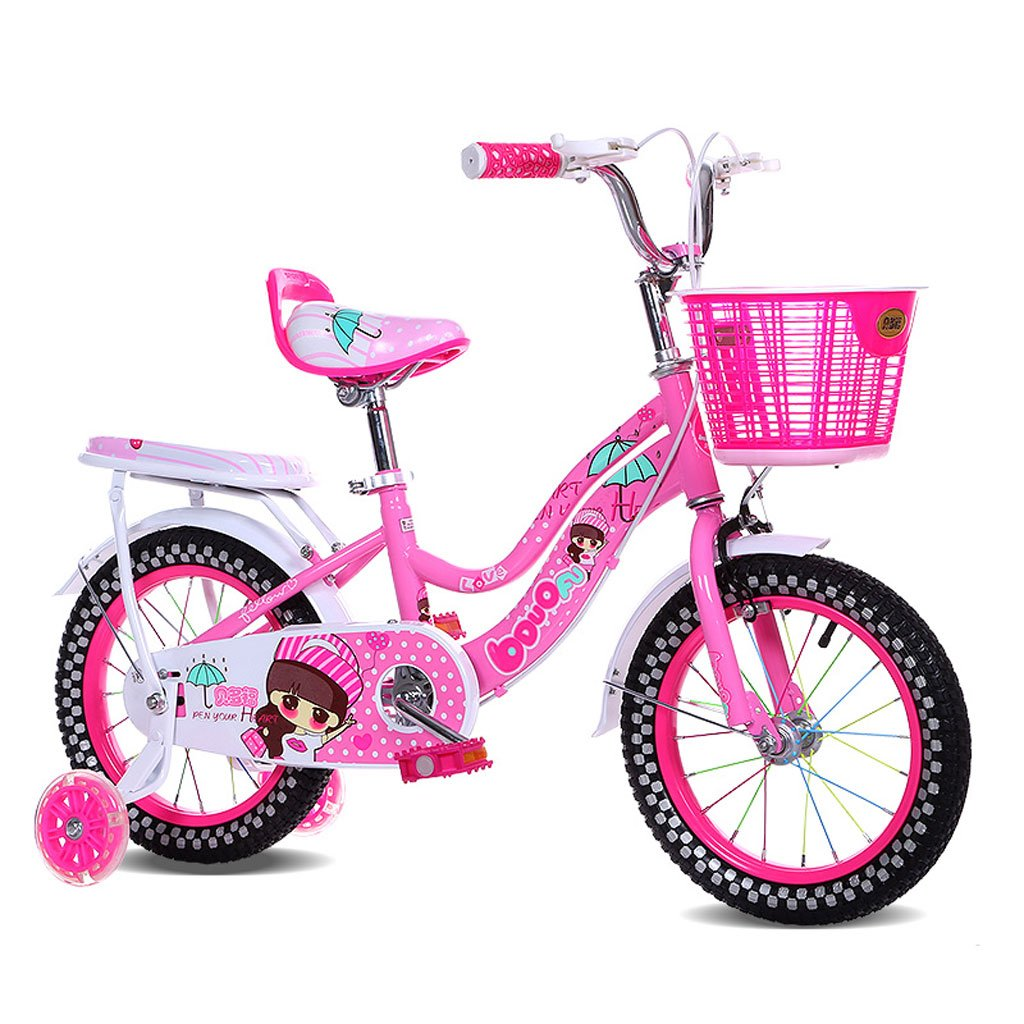 Fenfen子供の自転車18インチガールズベビーキャリア6 – 9ベビーサイクリング高炭素鋼、ピンク/ブルー/パープル B07D2B3XHYピンク
