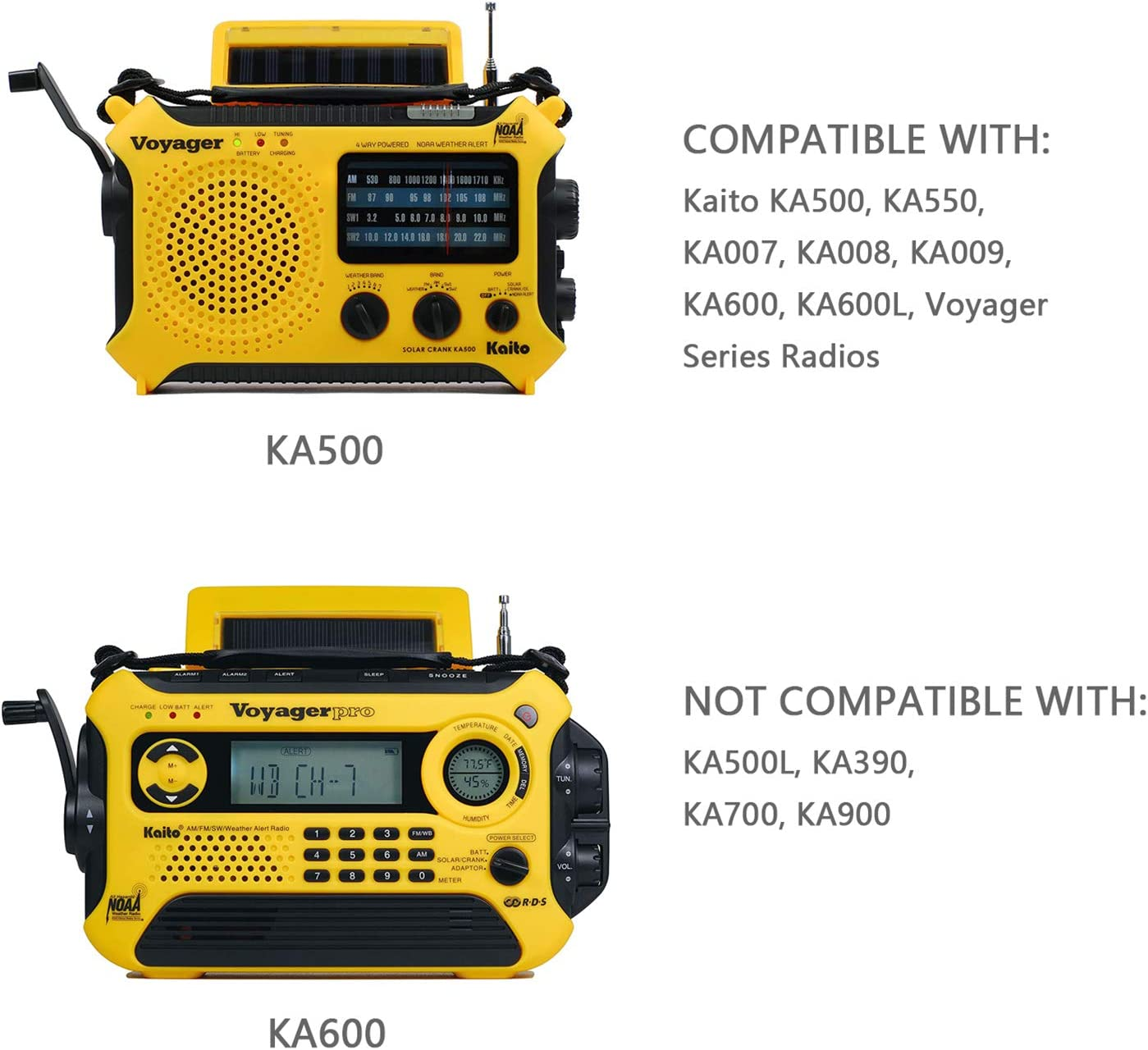 AC/DC 6V Adapter Compatible with for Kaito Voyager Series Radios, Replacement AD-500 Power Supply Charger Cord for KA500 KA600 KA007 KA008 KA009 and More (10 FT): Home Audio & Theater