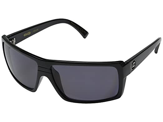 6e6e9d7fae Image Unavailable. Image not available for. Color  VonZipper Snark  Sunglasses Gloss Black with Wildlife Grey Polarized Lens
