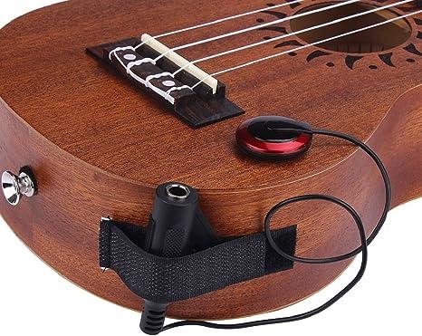 Piezo Mikrofon Kontakt Pickup Tonabnehmer Wandler für Akustische Gitarren