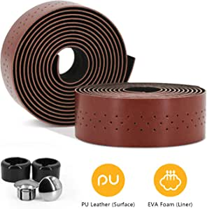 Velo Orange Leather Handlebar tape BLACK with wooden bar end plugs Top Quality