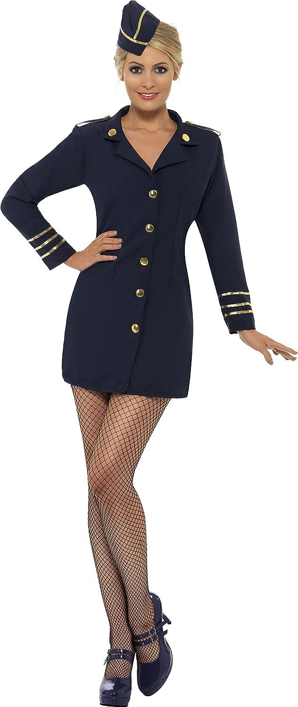 sc 1 st  Amazon.com & Amazon.com: Smiffyu0027s Womenu0027s Flight Attendant Costume: Clothing
