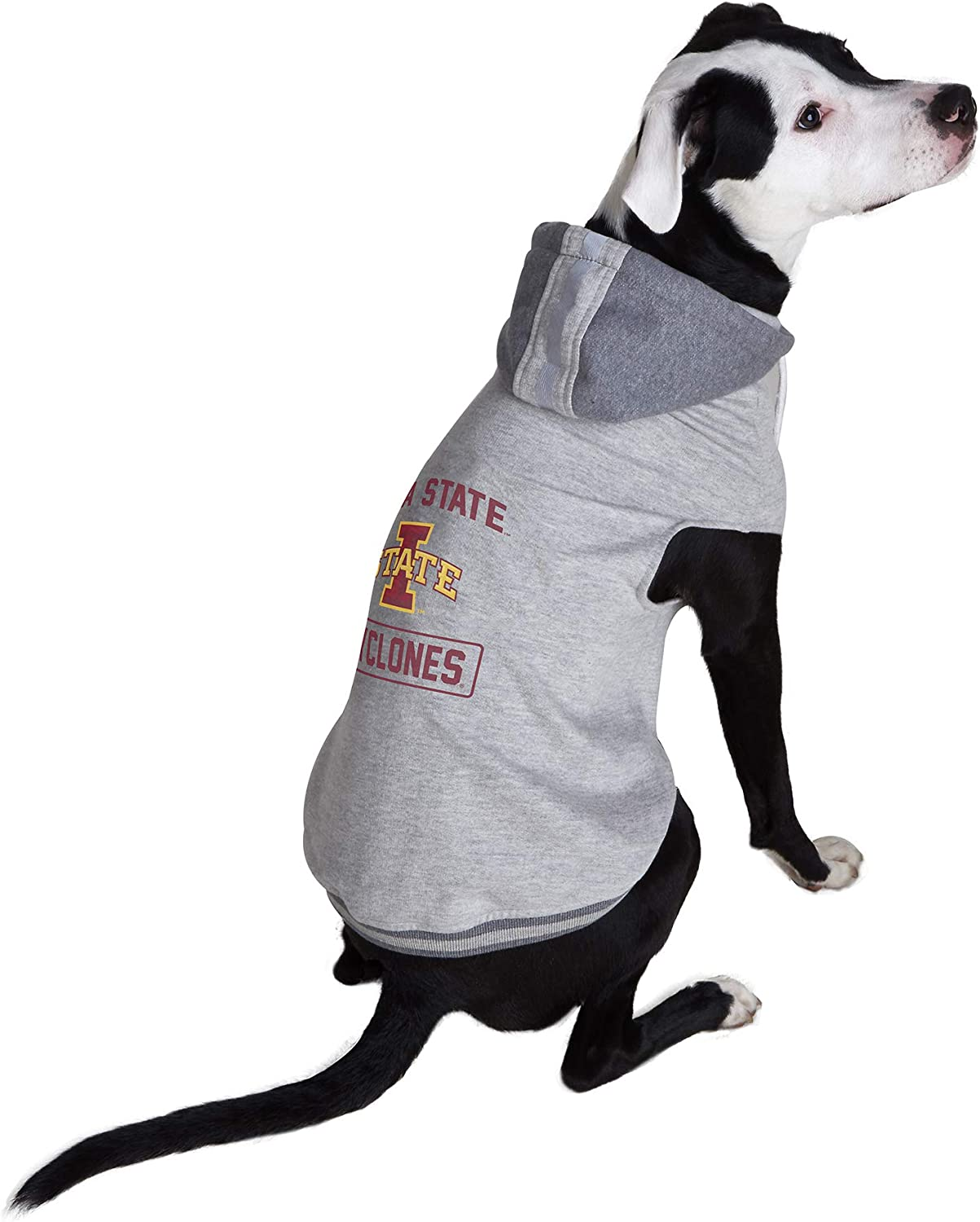 Littlearth NCAA Iowa State Cyclones Pet Hooded Crewneck Extra Small