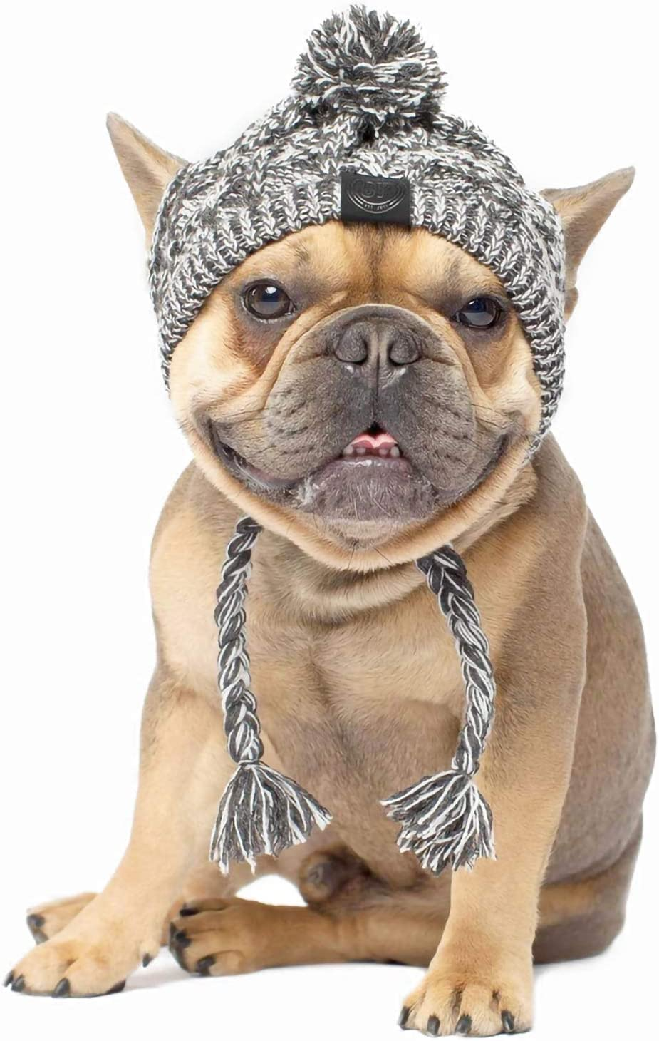 Warm Pet Dog Knitted Hat, Dog Hats for Small Dogs, Warm Winter Dog Hat Knit Snood Headwear for Pets, Pet Christmas Winter Warm Caps (M) : Kitchen & Dining