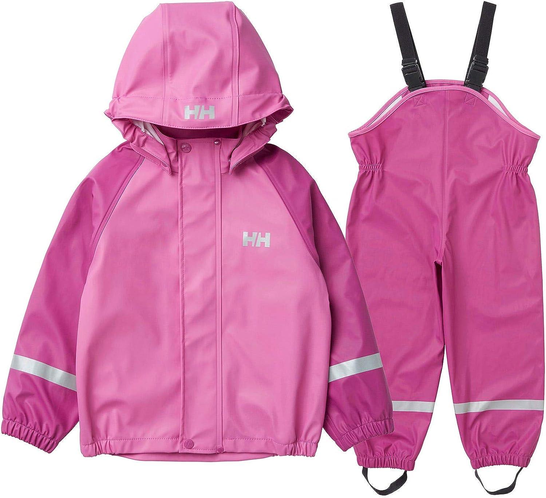 Helly-Hansen unisex-child Kids Bergen Hooded Fully Windproof Waterproof Rainset