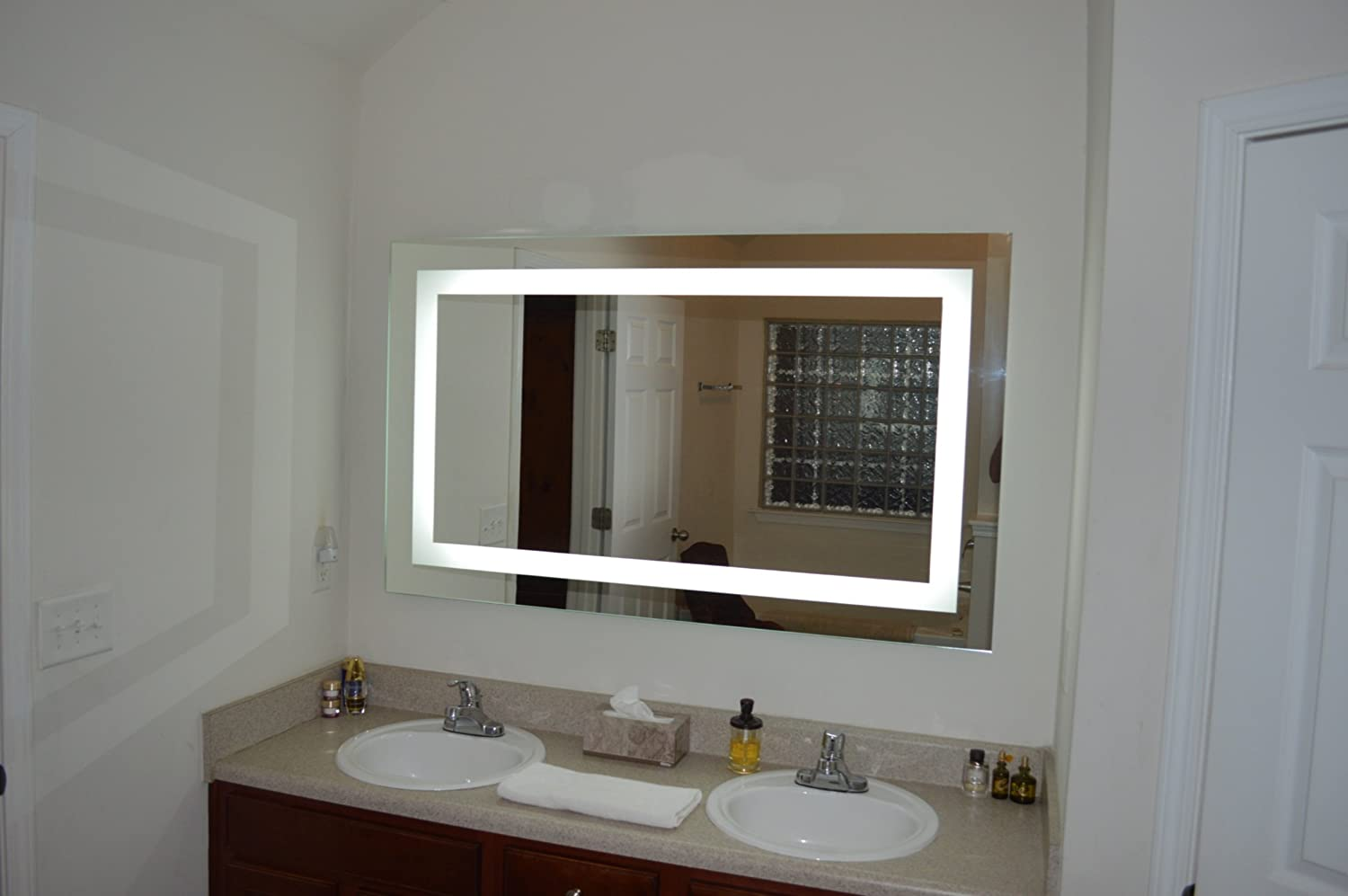 Amazon lighted vanity mirror led mam86036 commercial grade 60 amazon lighted vanity mirror led mam86036 commercial grade 60 wide x 36 tall home kitchen aloadofball Gallery