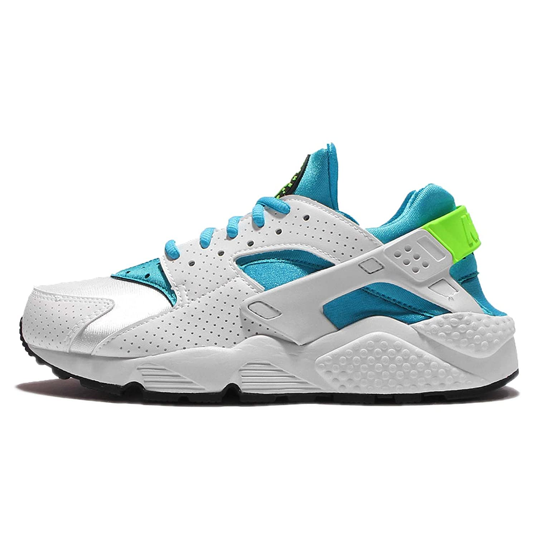Weiãÿ(Weiß   Gamma Blau-elctrc Grün) Nike Damen Air Huarache Run Laufschuhe, Bianco