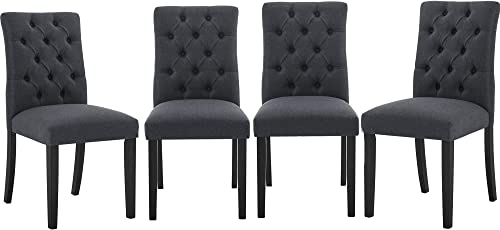 Fabric Dining Chairs Set of 4