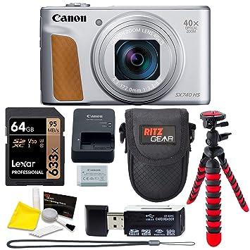 Amazon.com: Canon PowerShot SX740 (plata) - Cámara de puntos ...