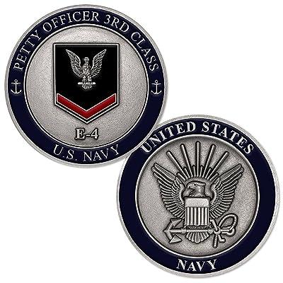 U.S. Navy Petty Officer Third Class E-4 Challenge Coin: Toys & Games [5Bkhe0507200]