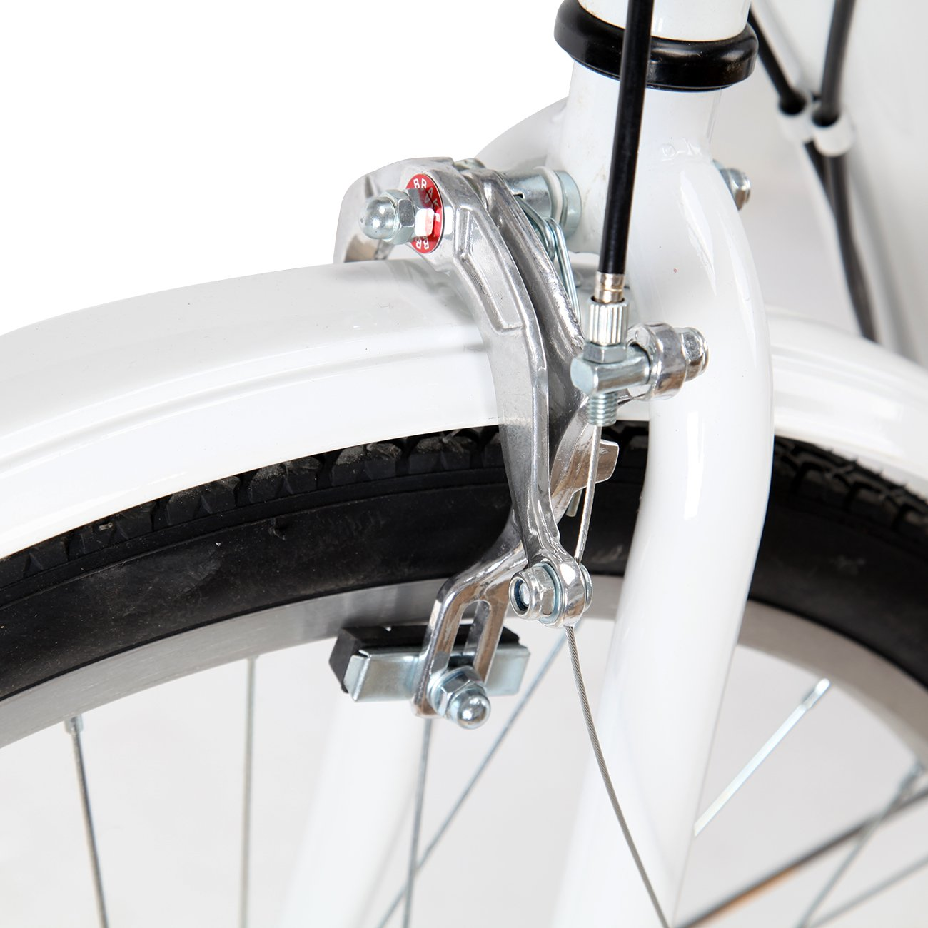 iglobalbuy blanco (6 velocidades, adultos triciclo trike 3-Wheel bicicleta crucero bicicleta con cesta: Amazon.es: Deportes y aire libre