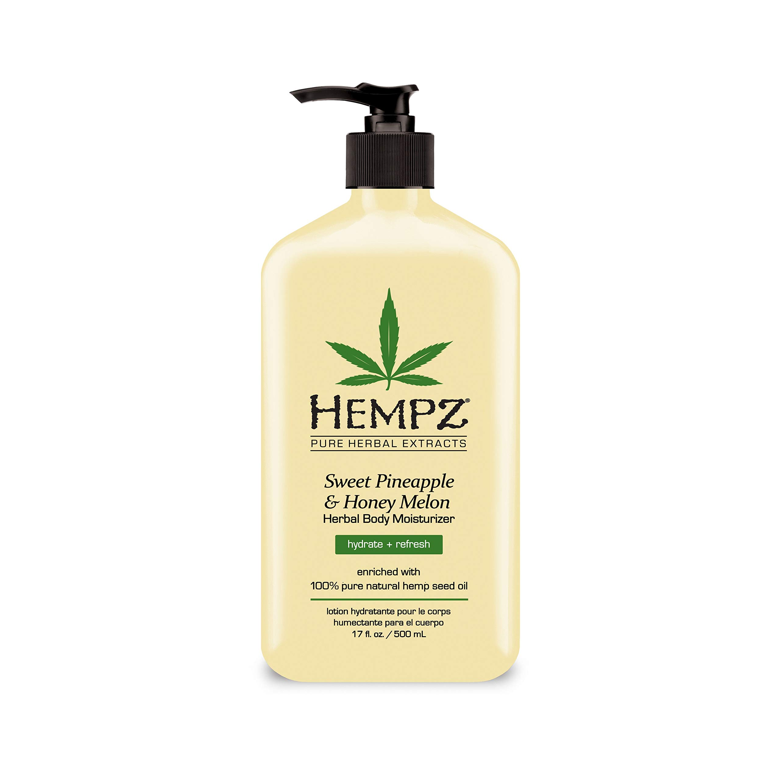 Hempz Natural Herbal Body Moisturizer: Sweet Pineapple & Honey Melon Skin Lotion, 17 oz by Hempz