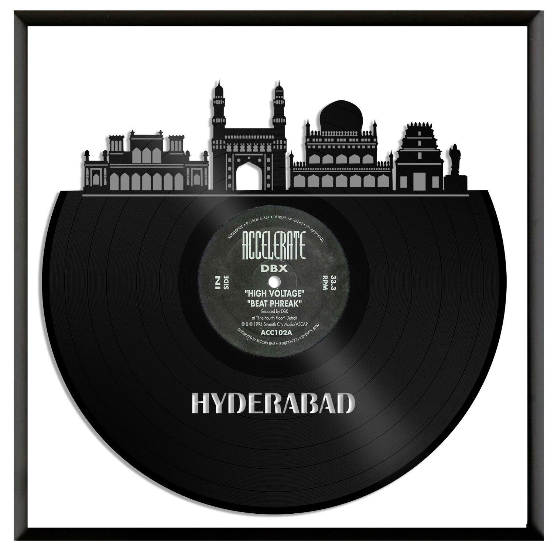 Amazon com vinylshopus hyderabad vinyl wall art with framed skyline best gift home and office room decoration baby