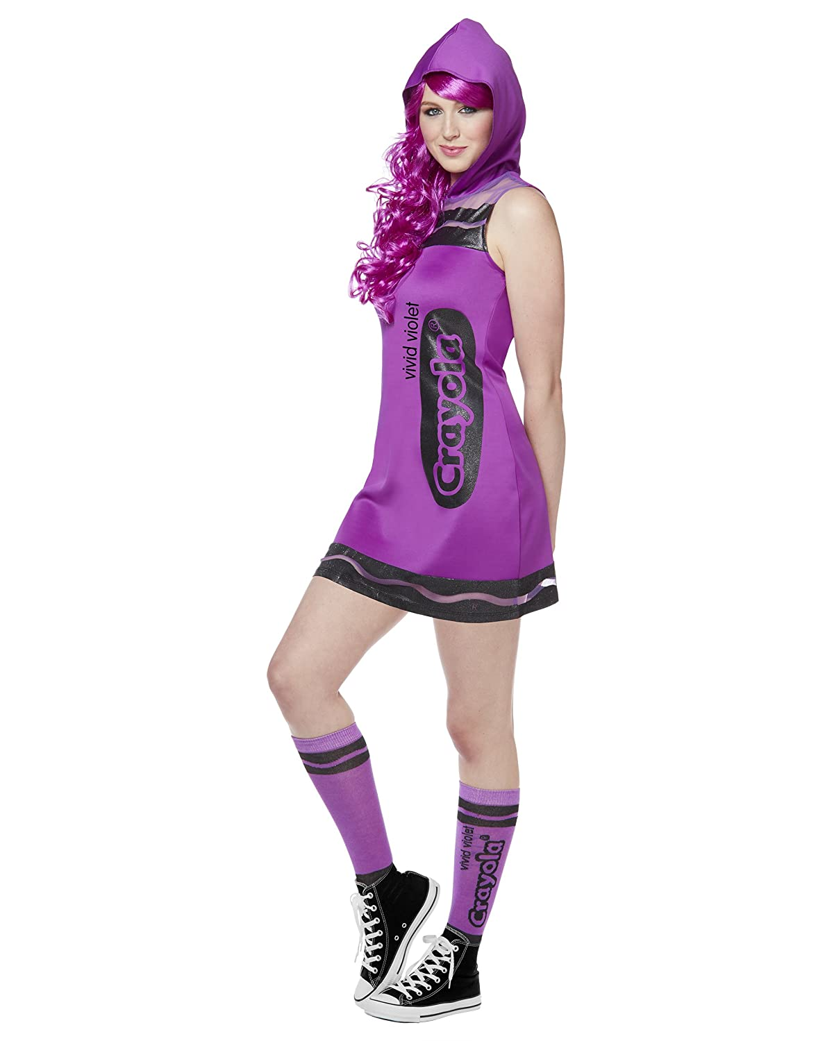 Spirit Halloween Vivid Violet Adult Crayon Dress Costume - Crayola  sc 1 st  Amazon.com : tween crayon costume  - Germanpascual.Com
