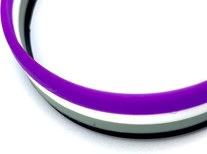 Patch Nation Bracelets en Silicone Drapeau Pride LGBT Asexual