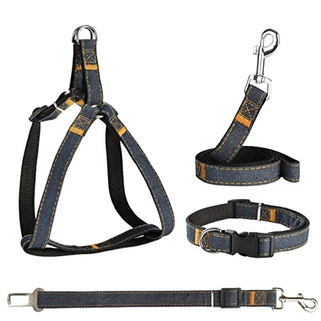 POWEROWL Arnés de seguridad 4 en 1 para perro, fácil de poner y ...