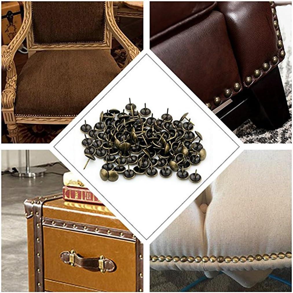 bo/îte /à vin Shenxay Lot de 100 Clous de tapissier en Laiton Antique pour Bijoux d/écoration de canap/é Cadeau