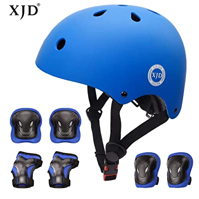 XJD Kids Bike Helmet Toddler Helmet for Kids 3-13 Years Sport Protective Gear Set Boy Girl Adjustable Child Cycling Helmet with Knee Pads Elbow Pads Wrist Guards Youth Skateboard Helmet CPSC Certified : Sports & Outdoors