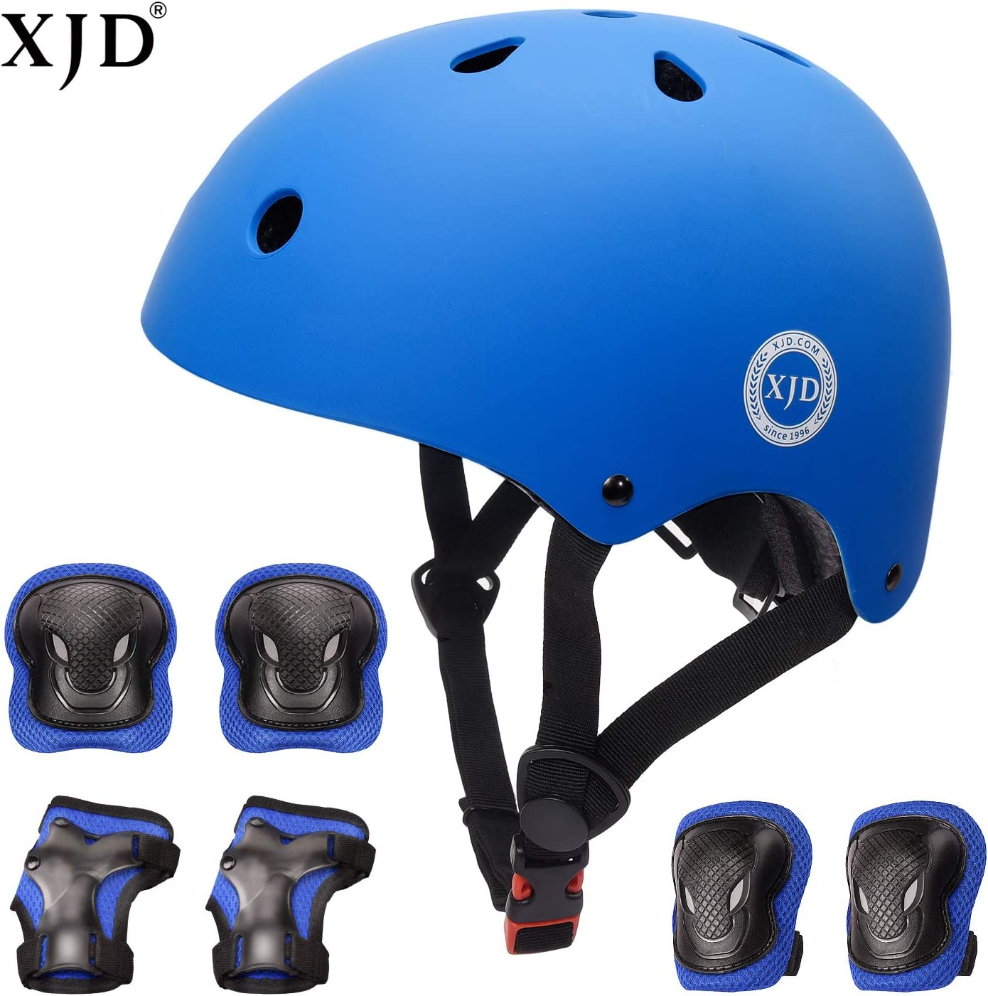 XJD Kids Bike Helmet Toddler Helmet for Kids 3-13 Years Sport Protective Gear Set Boy Girl Adjustable Child Cycling Helmet with Knee Pads Elbow Pads Wrist Guards Youth Skateboard Helmet CPSC Certified