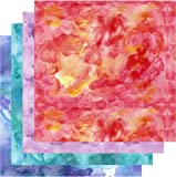 "Watercolor HTV, Shades of Red Orange Blue Teal Purple HTV, 4-12""x12"" Bundle, Free Transfer Sheet"