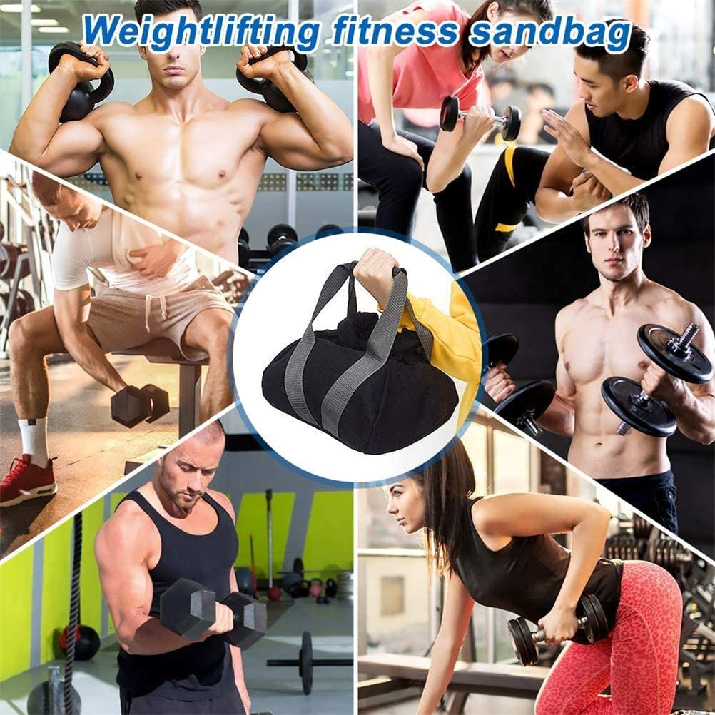 Einstellbarer Gewichtheber Training Sandsack Gef/üllte Fitness-Trainingstasche mit bequemem Griff Schnallenschloss f/ür Powerlifting-Weight Exercise-Running OLT-EU Kettlebell Gewichte