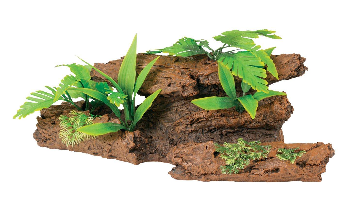 Marina Naturals Malaysian Driftwood with Plants, Extra Large by Marina