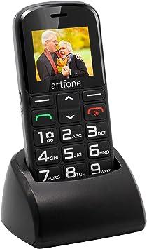Teléfonos Móviles para Mayores Mayores con SOS botón, Artfone Senior, Fácil de Usar Celular para Ancianos con Negro: Amazon.es: Electrónica