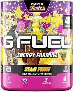 G Fuel Butter's Star Fruit (40 Servings) Elite Energy and Endurance Formula 9.8 oz.