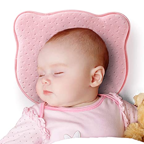 a6ecd8d1 CoWalkers Almohada moldeadora para bebés recién nacidos, almohada de espuma  de memoria suave para bebés para ...