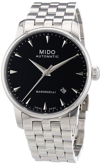 MIDO Baroncelli Ii 38mm M86004181 - Reloj de caballero automático, correa de acero inoxidable color plata: Amazon.es: Relojes