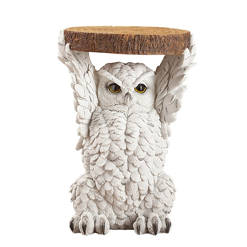 Collections Etc Majestic Owl Side Accent Table Forest Animal Decor