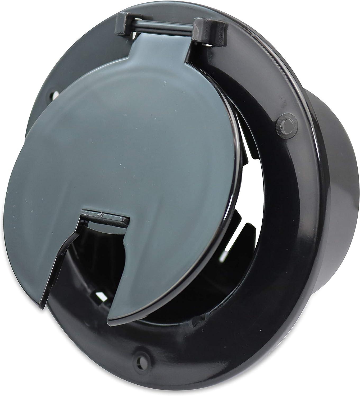RV Camper Trailer Motorhome Power Cord Hatch Electrical Access Door Black(Black 5B)