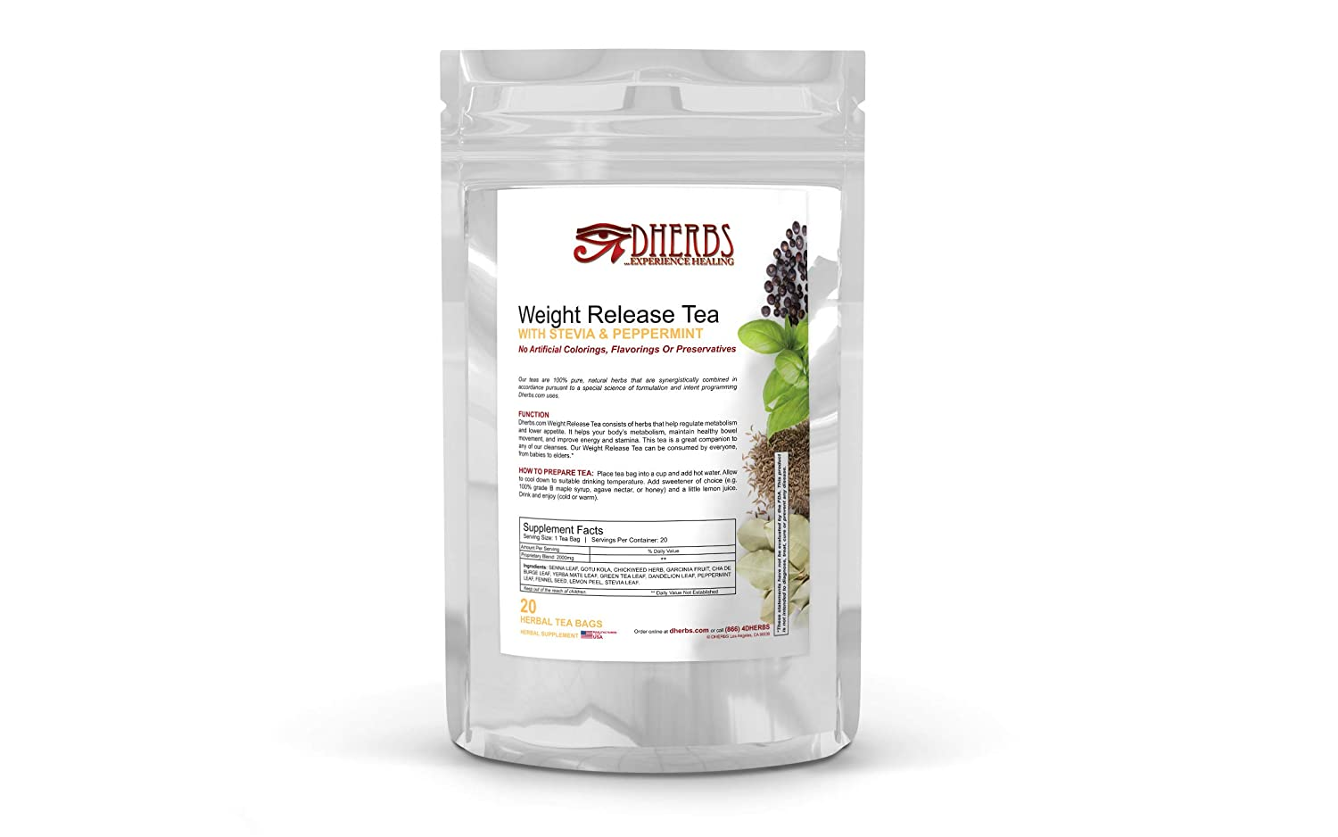 Dherbs Weight Release Tea, 40 Grams: Amazon ca: Health