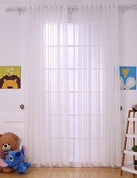 Rideau Léger Hbbmagic Voile Porte Fenêtre Panneau De Voilage Pour