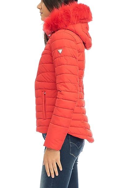 GUESS W84L35 WAP20 Abrigos Y Chaquetas, Y Cazadoras Mujer Rosso XS: Amazon.es: Ropa y accesorios
