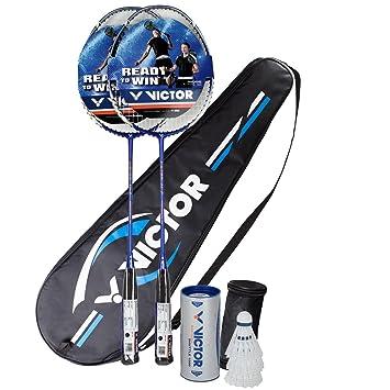 7cdc1336dff Victor Ti 7 Graphite Badminton 2 Player Set - 2 Racquets