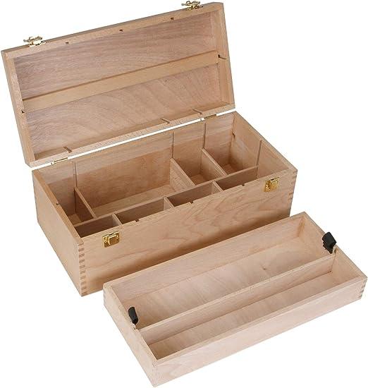 Caja de utensilios XL de madera de haya, volumen 10 L, caja de ...