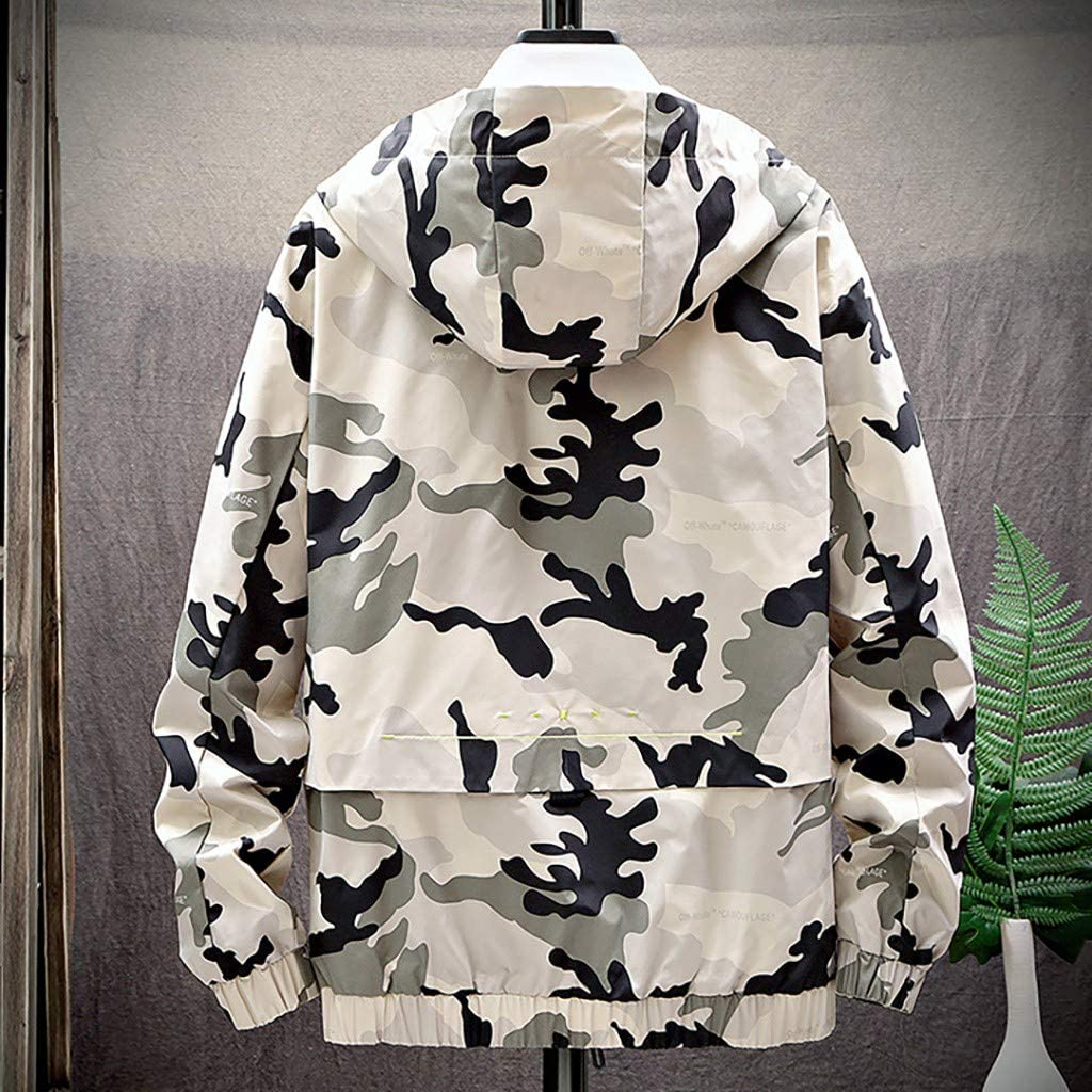 Palarn Print Pullover Winter Clothes Mens Autumn Spring Casual Fashion Solid Camouflage Hoodies Outwear Tops Coat