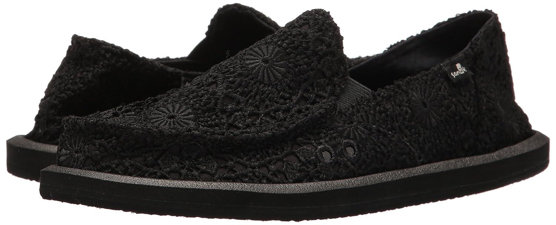 Sanuk Schwarz Damen Donna Crochet Slipper, Schwarz Sanuk (Black/Black) 876880