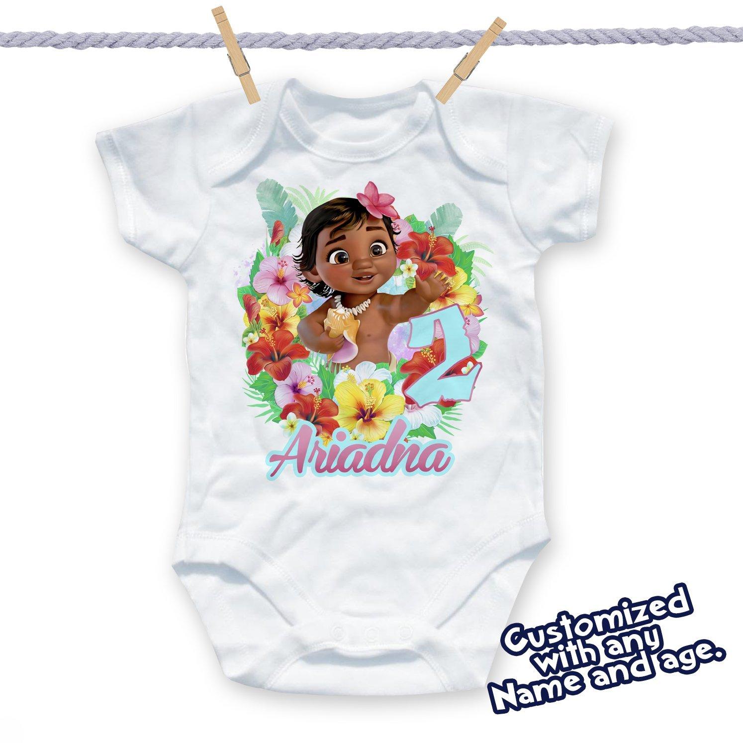 Moana Birthday Shirt, Moana Custom Name and Age Birthday Shirt, Moana Maui Birthday Shirt, Moana Party, Moana and maui party