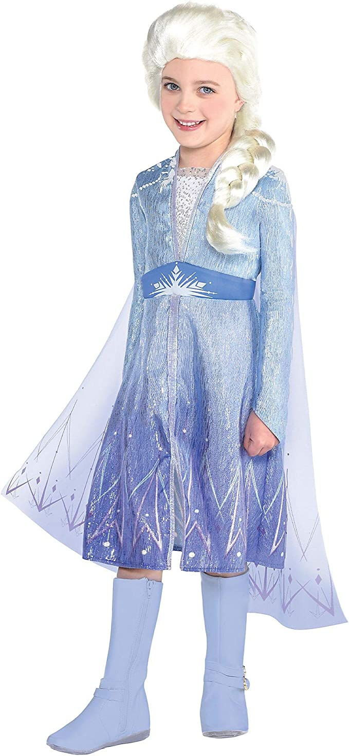 Frozen 2 Disney Elsa Travel Costume for Girls