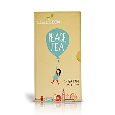 Charbrew Té de la Paz 4 x 25 Bolsas de Té (Provisiones para 100 Días) NATURALMENTE SIN CAFEÍNA
